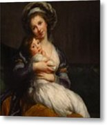 Self-portrait With Her Daughter Jeanne-lucie Metal Print