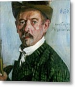 Self Portrait With Tyrolean Hat Metal Print