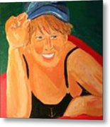 Self Potrait Of Artist Shellie Gustafson Metal Print