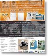 Self Serivce Laundary Machine Subhang Jaya Metal Print