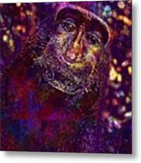 Selfie Monkey Self Portrait  Metal Print