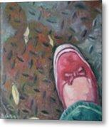 Selfportrait Red Shoe Metal Print