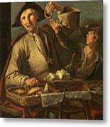 Seller Of Sweets And Donuts Metal Print