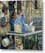 Selling And Roasting Chestnuts Metal Print