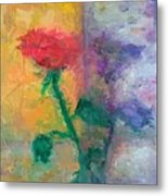 Semi Abstract Flowers#1 Metal Print