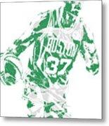 Semi Ojeleye Boston Celtics Pixel Art 2 Metal Print
