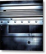 Semi Truck Monocromatico Metal Print