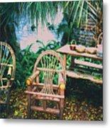Seminole Indian Made Outdoor Furniture Metal Print