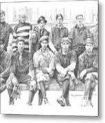 semipro baseball 1908 CO railroad pencil portrait Metal Print