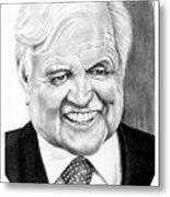Senator Edward Kennedy Metal Print