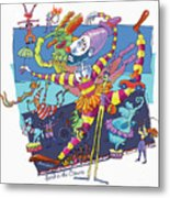 Send In The Clowns Metal Print