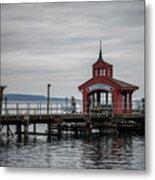 Seneca Lake Pier Metal Print