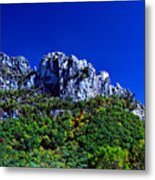 Seneca Rocks National Recreational Area Metal Print by Thomas R Fletcher