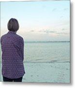 Senior Woman On The Beach  Metal Print
