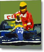 Senna And Mansell Metal Print