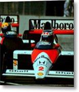 Senna Chasing Prost ... Metal Print
