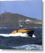Sennen Cove Lifeboat Metal Print