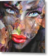 Sensual Eyes Autumn Metal Print