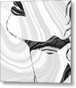 Sensual Portrait Art - Marbled Seduction - Sharon Cummings Metal Print