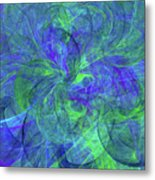 Sentimental Nature Abstract Metal Print