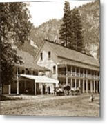 Sentinel Hotel And Ivy And River Cottages Circa 1895 Metal Print