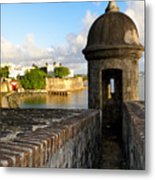 Sentry Post On Old City Wall Metal Print