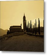 Sepia Church Metal Print