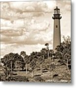 Sepia Lighthouse Metal Print