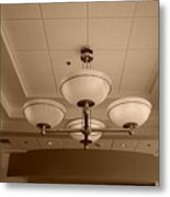Sepia Lights Metal Print