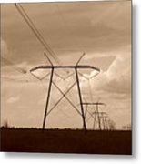 Sepia Power Metal Print