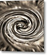 Sepia Whirlpool - Derived From Ribbon Grass Plant Image Metal Print