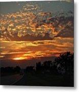 Sept Sunset Metal Print
