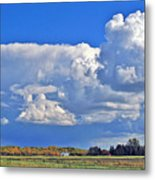 September Clouds Metal Print