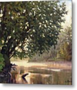 September Dawn Little Sioux River - Plein Air Metal Print