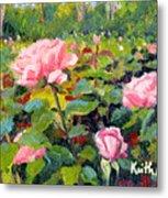 September Roses Metal Print