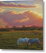 September Sunset In Taos Metal Print