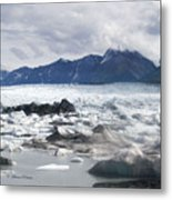 September's Knik Glacier Metal Print