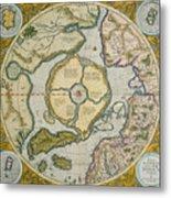 Septentrionalium Terrarum Descriptio Metal Print by Gerardus Mercator