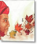 Seqouyahs Gift To The Cherokee Metal Print