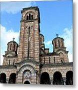 Serbian Orthodox Church Of Saint Mark Belgrade Serbia Metal Print