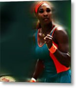 Serena Getting It Done Metal Print