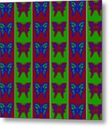 Serendipity Butterflies Blueredgreen 14of15 Metal Print