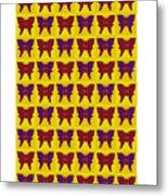 Serendipity Butterflies Brickgoldblue 26 Metal Print