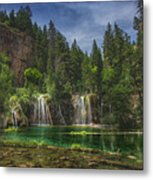 Serene Hanging Lake Waterfalls Metal Print