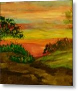 Serene Hillside I Metal Print by Marie Bulger