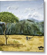 Serengeti Painting Metal Print