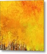 Serenity In Forest Metal Print