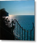 Serenity In The Bay Of Naples Metal Print