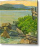 Serenity On The Hudson Metal Print