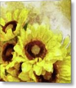 Serenity Sunflowers Metal Print